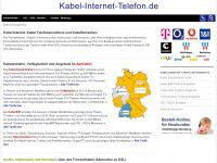 Kabel Internet, Kabel Telefonanschluss und Kabelfernsehen Angebote