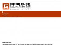 Geckeler-bau.de - Geckeler Hoch- und Tiefbau GmbH, Seit 75 Jahren Ihr Partner am Bau