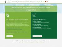 Balintgesellschaft.de - Die Deutsche Balint-Gesellschaft e.V. (DBG) - Home