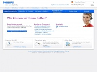Support.philips.com - Philips - Kontakt und Support