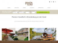 Pension in Brandenburg mit Floßverleih - Pension Havelfloss