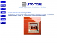 Leto-tore.de - Willkommen :: LETO-TORE