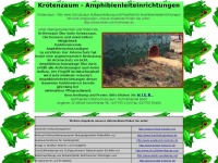 Krötenzaun - Amphibienleiteinrichtungen