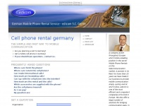 Cell phone rental germany