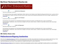 Berliner Testament Muster und Vorlagen | Berliner-Testament-Muster.de