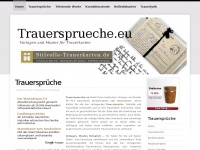 Trauerspr&uuml;che | Vorlagen und Muster f&uuml;r Trauerkarten und Kondolenzkarten - Trauersprueche.org