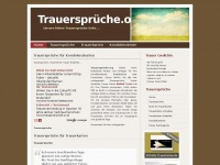 Trauerspr&uuml;che | Trauer Gedichte, Texte f&uuml;r Trauerkarten, Kondolenzkarten, Beileidskarten  - Trauerspr&uuml;che.org