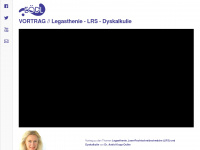 Vortrag zum Thema Legasthenie LRS Dyskalkulie