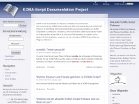 KOMA-Script Documentation Project | Aktive Anwender verbessern KOMA-Script.