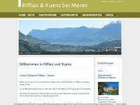 Wanderorte Riffian und Kuens bei Meran in Südtirol