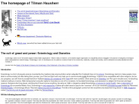 The homepage of Tilman Hausherr