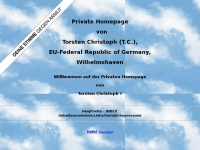 Torsten Christoph (T. C.) - Private Homepage, EU-Germany, Wilhelmshaven - Inhalt/Index (index.htm)