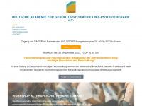 Akademie Gerontopsychiatrie - Herzlich Willkommen bei der Deutschen Akademie für Gerontopsychiatrie und -psychotherapie (DAGPP) e.V.