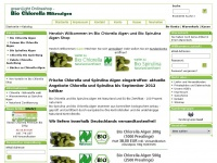 Bio-chlorella.de - Bio Chlorella und Spirulina Algen: Chlorella vulgaris, Chlorella, Chlorella Algen, Spirulina, Ausleitung