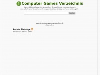 Computer Games Verzeichnis und Webkatalog