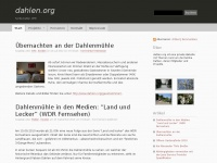 dahlen.org: dahlen.org ist eine private Website mit Themen rund um die Familie Dahlen, deren Mitglieder und Projekte, insbesondere der Dahlen-Mühle in Sevelen
