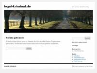 legal-kriminal.de | Ein weiterer WordPress-Bloglegal-kriminal.de | Ein weiterer WordPress-Blog