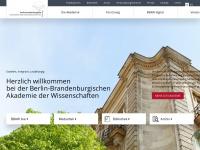 Bbaw.de - Startseite — Berlin-Brandenburgische Akademie der Wissenschaften