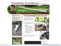 Rieselfelder-blockaderohr.de - Fuchsfalle Rohrfalle Falle - Rieselfelder Blockaderohr