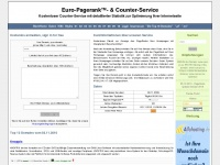 Euro - Pagerank- & Counterservice - Start- /Anmeldeseite