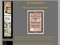 Goldpfandbrief / Goldpfandbriefe