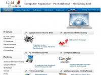Marketing Kiel, Webdesign Kiel, Joomla Webdesign, Computer Reparatur Kiel und Umgebung, Laptop Reparatur → Goldposition