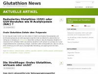 Glutathion-news.com - Glutathion News - Glutathion Nachrichtenportal