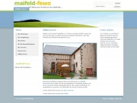 Maifeld-Fewo - Willkommen