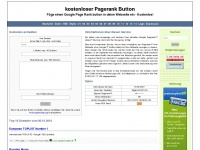 kostenloser Pagerank Button - Startseite