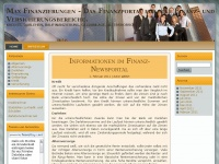 Max Finanzierungen - Das Finanzportal f&uuml;r alle Finanz- und Versicherungsbereiche.