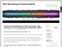 Seo-marketing-professionell.de - Search Engine Optimization (SEO), Suchmaschinenoptimierung, Backlinks