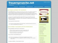Trauersprueche.net | Trauerspr&uuml;che, Texte und Gedichte f&uuml;r Trauerkarten und Kondolenzkarten