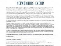 Networking-Events - Suchen, finden, veranstalten...
