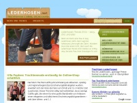 Lederhosen f&uuml;r Damen &amp; Herren: Lederhosen g&uuml;nstig im Online-Shop kaufen