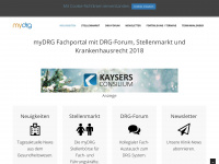 myDRG dedi, Stellenmarkt, DRG-Fallpauschalen, Diagnosis Related Groups