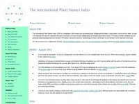 The International Plant Names Index - home page