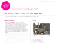 www.my-flat-berlin.com ...temporary homes for contemporary nomads©