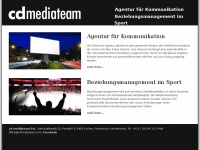 cd mediateam - Agentur für Kommunikation - Beziehungsmanagement im Sport - Christian Dreier: Website
