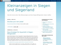 Kleinanzeigen in Siegen und Siegerland
