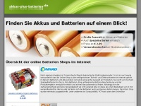 Akkus und Batterien online finden