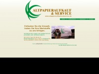 Altpapieraufkaufundservice.de - Altpapier Aufkauf & Service - Home