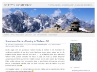 Betty's Homepage | Photos, Reisen, Wanderungen, Chasings und mehr…
