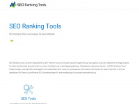 Seo-ranking-tools.de - SEO-Tools und Webmaster-Tools