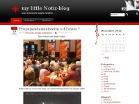 my little Notiz-blog