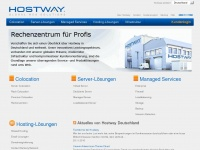 Colocation, Rechenzentrumsdienste, virtuelle und dedizierte Server, Managed Services, CDN, HA-Lösungen  - Hostway Deutschland GmbH