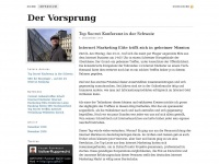 Der Vorsprung -