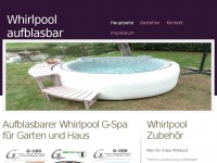 whirlpool aufblasbar f r garten g spa whirlpool. Black Bedroom Furniture Sets. Home Design Ideas