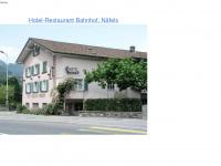 Hotelbahnhof-naefels.ch - Hotel-Restaurant Bahnhof Näfels