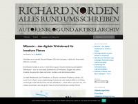Richard Norden | Alles rund ums Schreiben