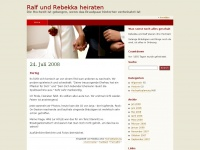 Ralf und Rebekka heiraten